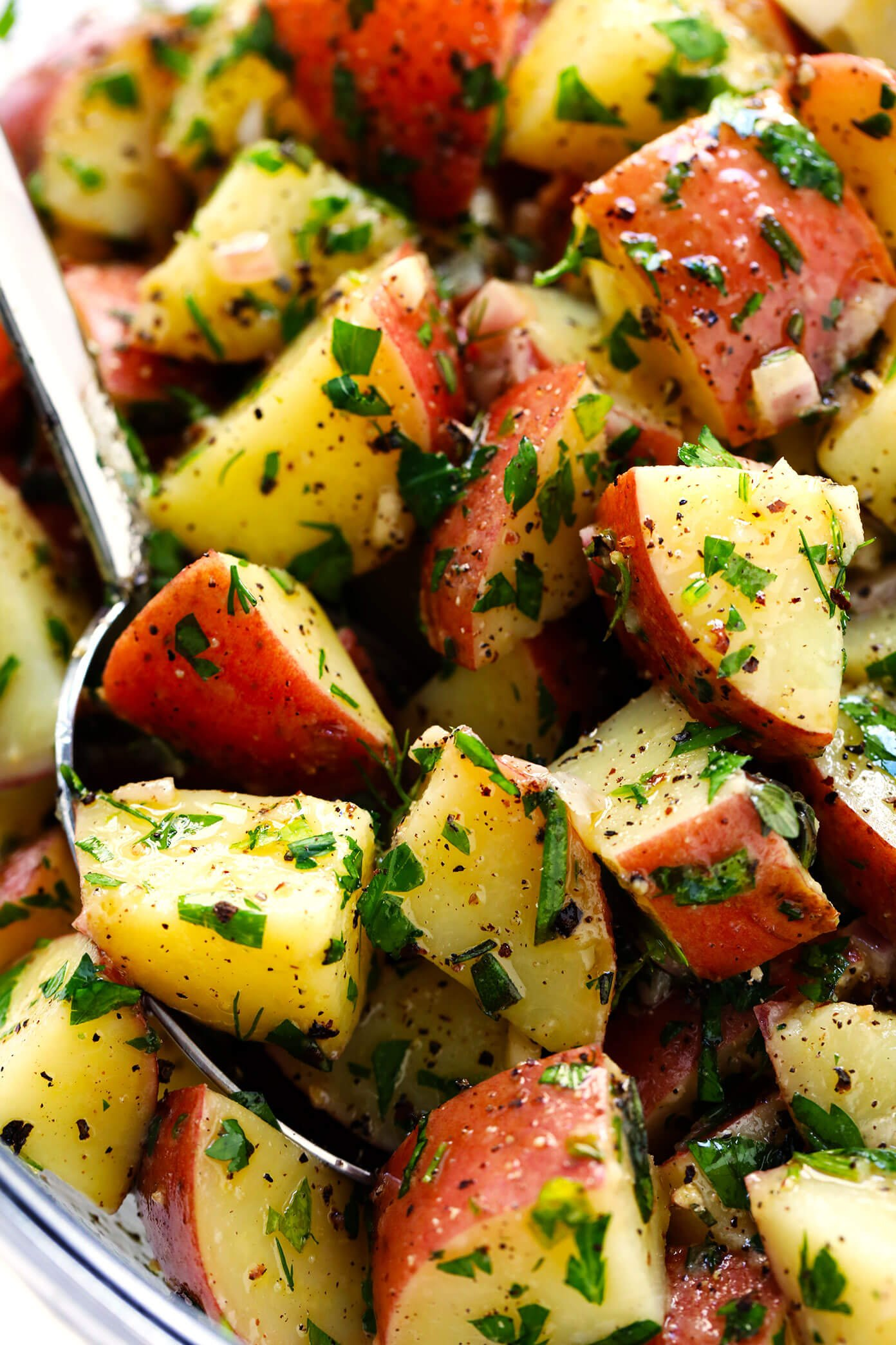 Lemon Herb Potato Salad Recipe (No Mayo)