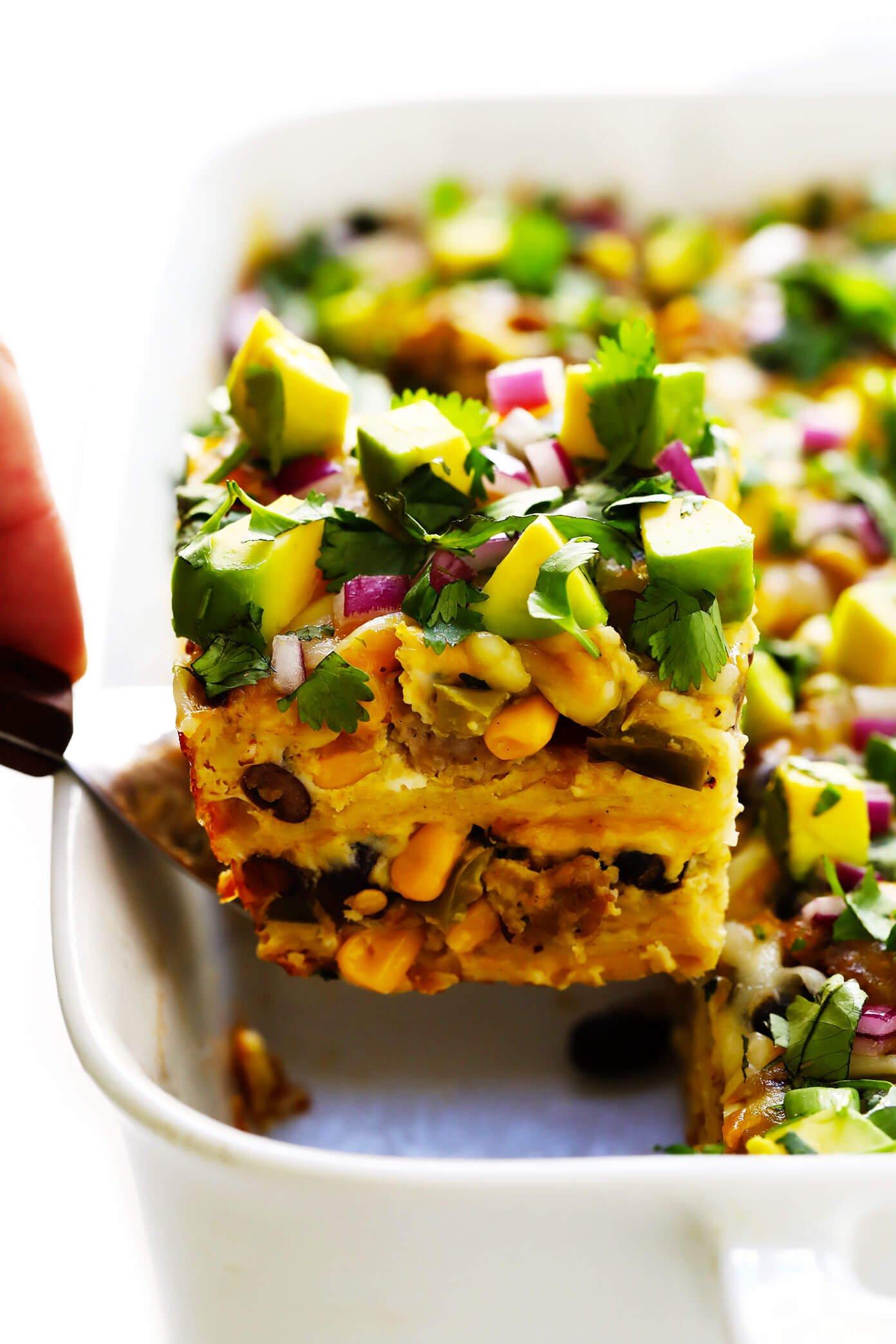 Increíble cazuela de desayuno mexicano