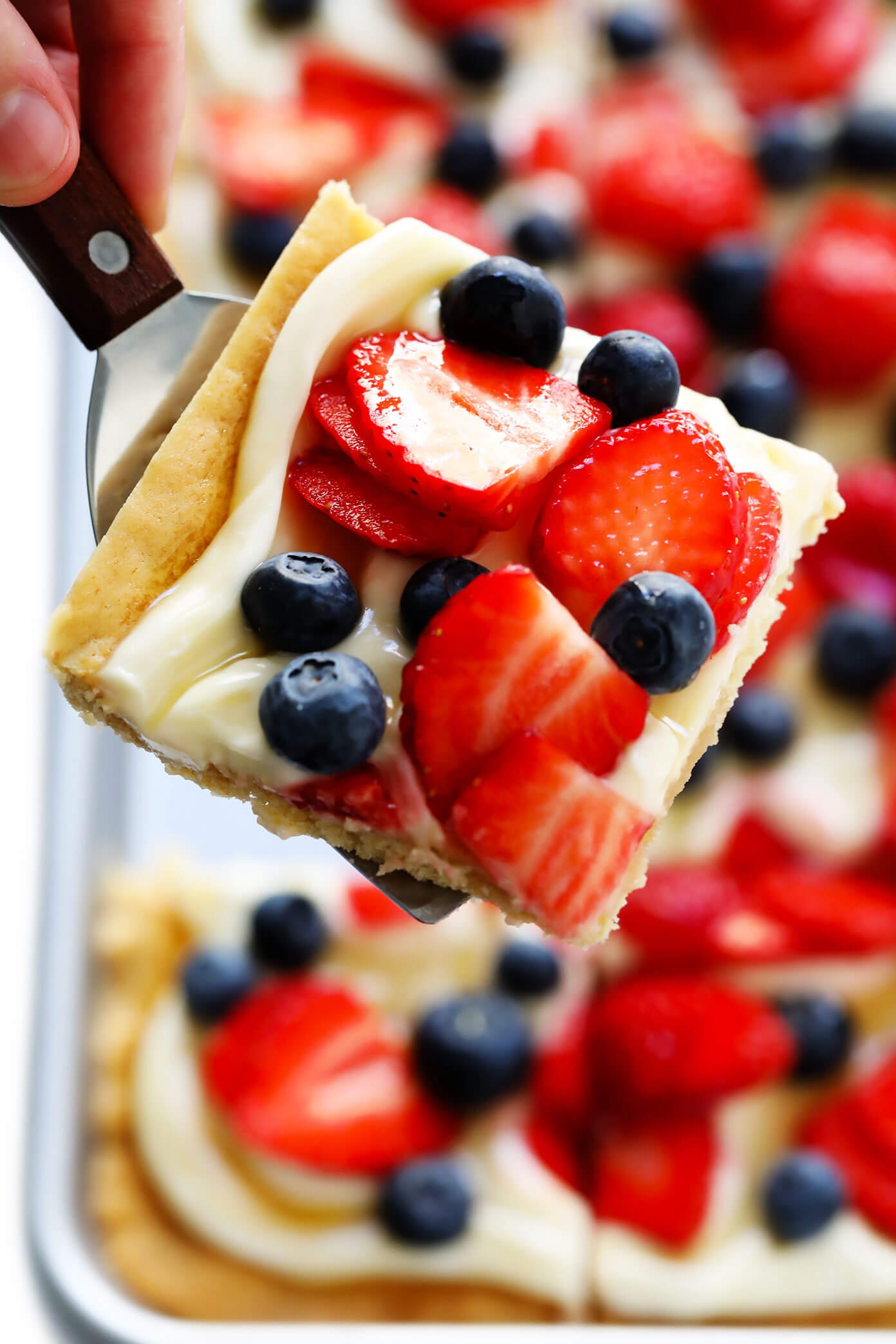 Red, White and Blue Fruit Pizza for 4th of July