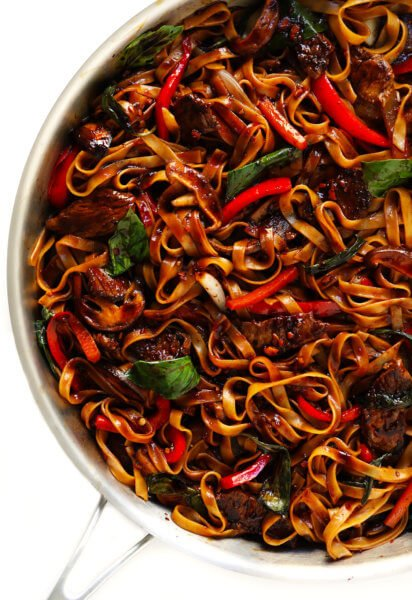 Thai Basil Beef Noodle Stir Fry Gimme Some Oven