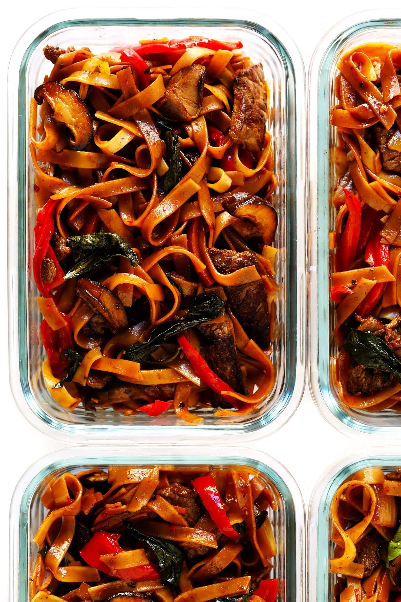 Thai Beef Noodle Stir-Fry Meal Prep Recipe
