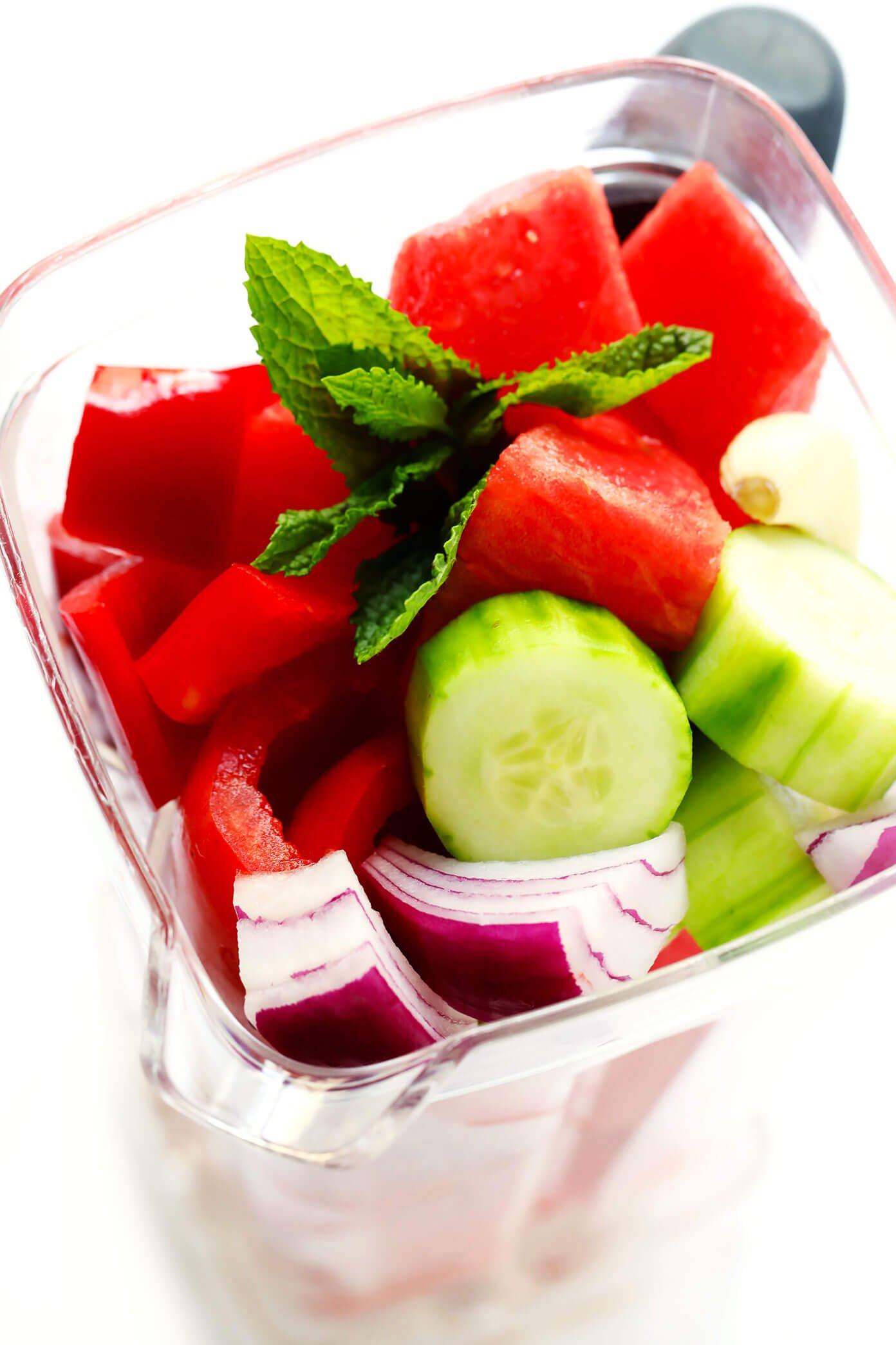 Watermelon Gazpacho Ingredients