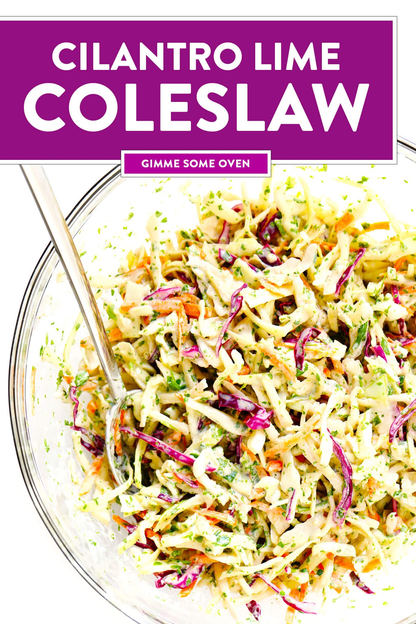 Best Coleslaw Recipe with Cilantro and Lime