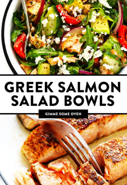 Greek Salmon Salad Bowls Recipe