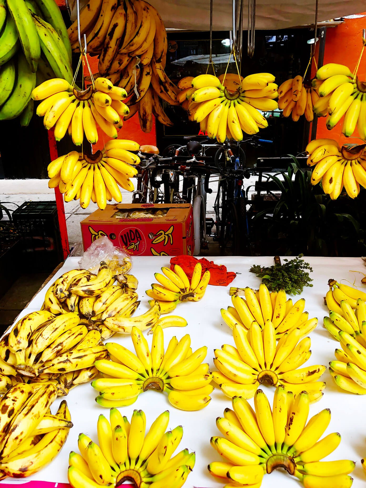 Mexico City Market Bananas