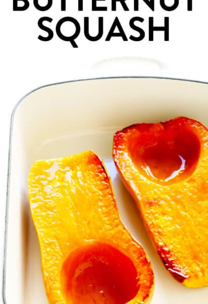 Whole Roasted Butternut Squash Halves