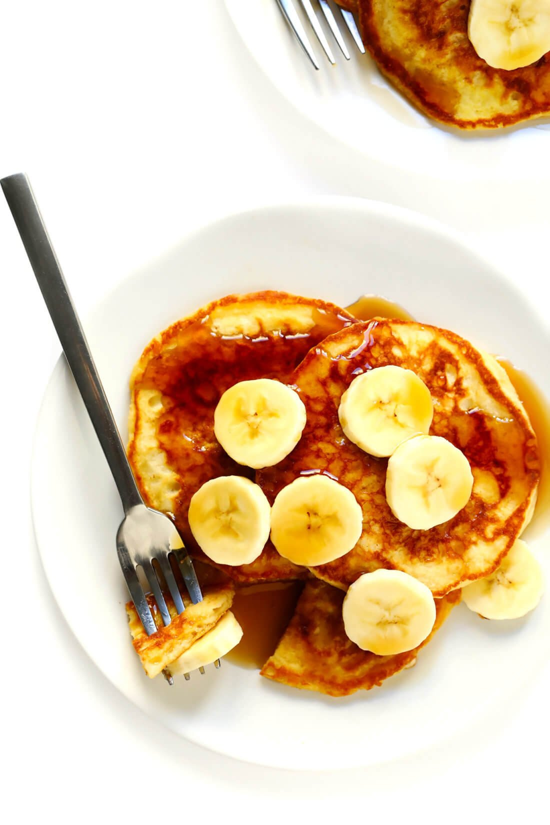 Buttermilk Pancakes Recipe with Bananas