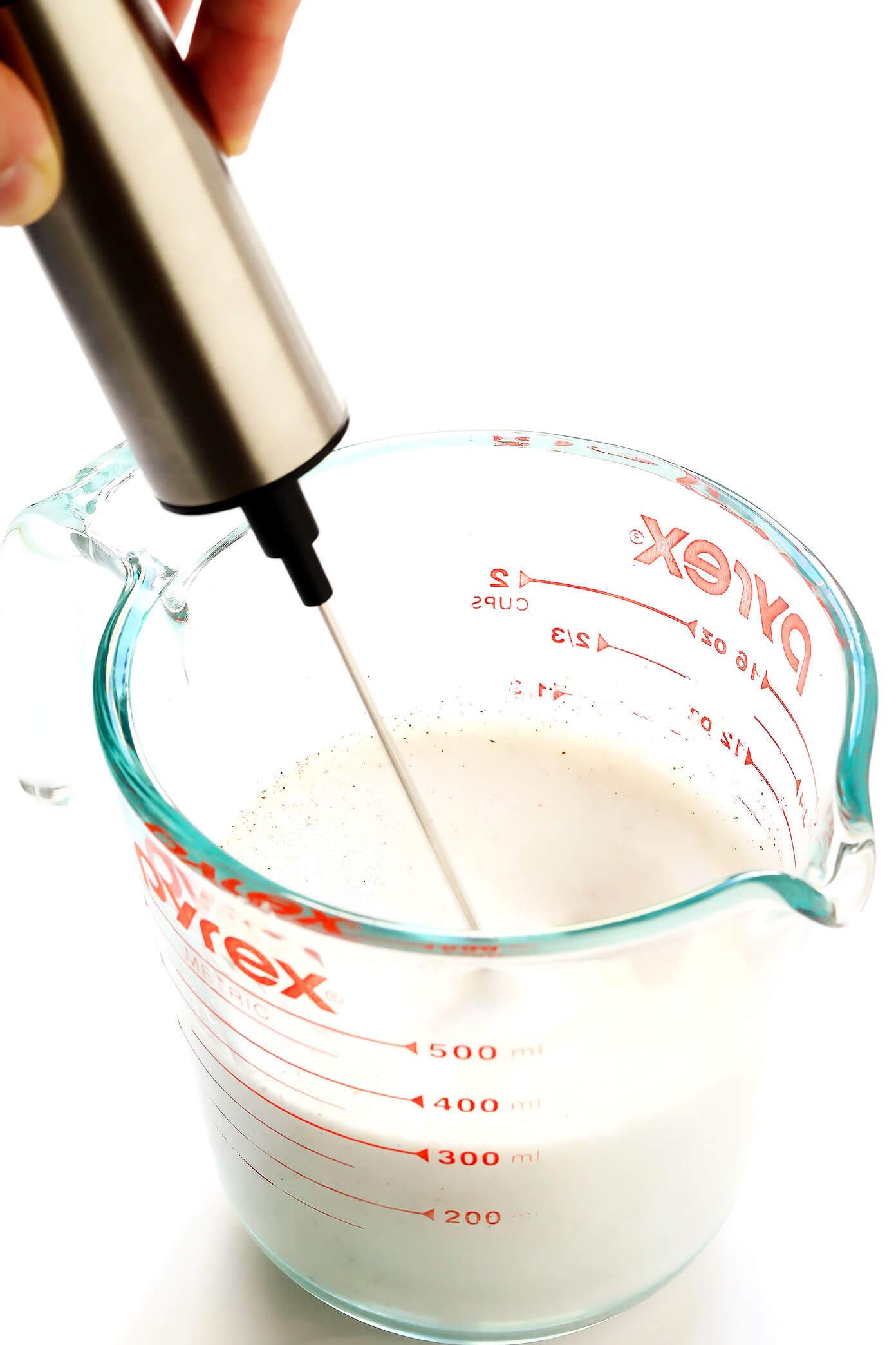 How To Make Pumpkin Foam for Iced Coffee (Like Starbucks)