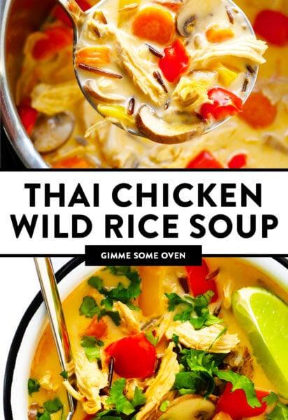 Thai Chicken Wild Rice Soup