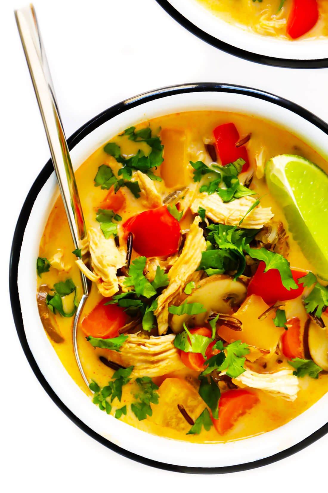 Thai Red Curry Chicken Wild Rice Soup