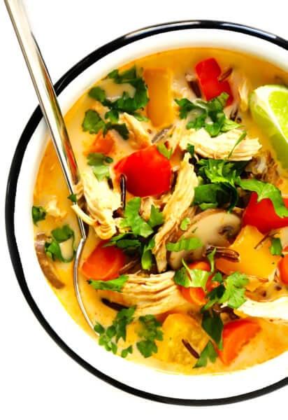 Thai Curry Chicken Wild Rice Soup
