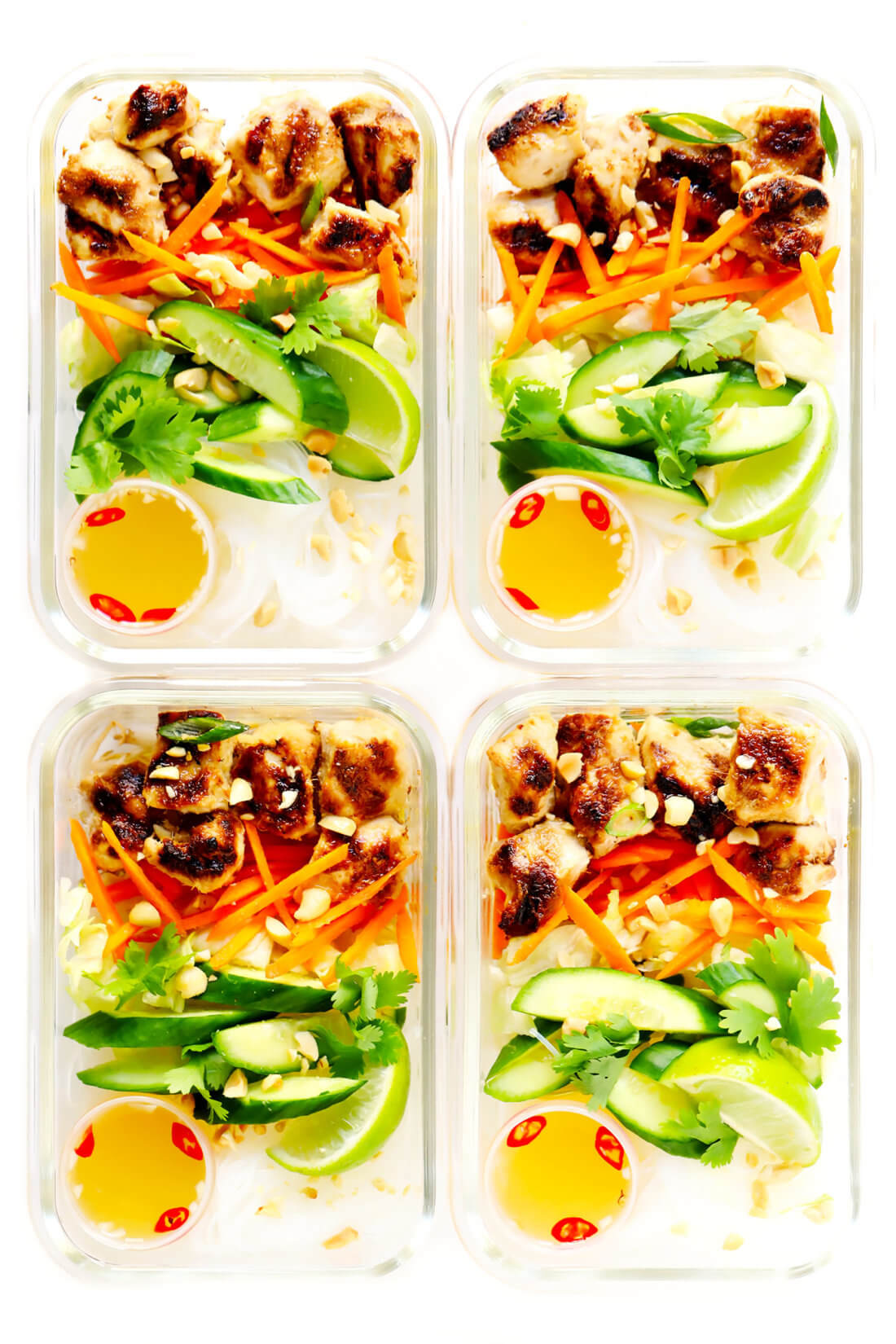 Bun Meal Prep (Vietnamese Chicken Noodle Bowls)