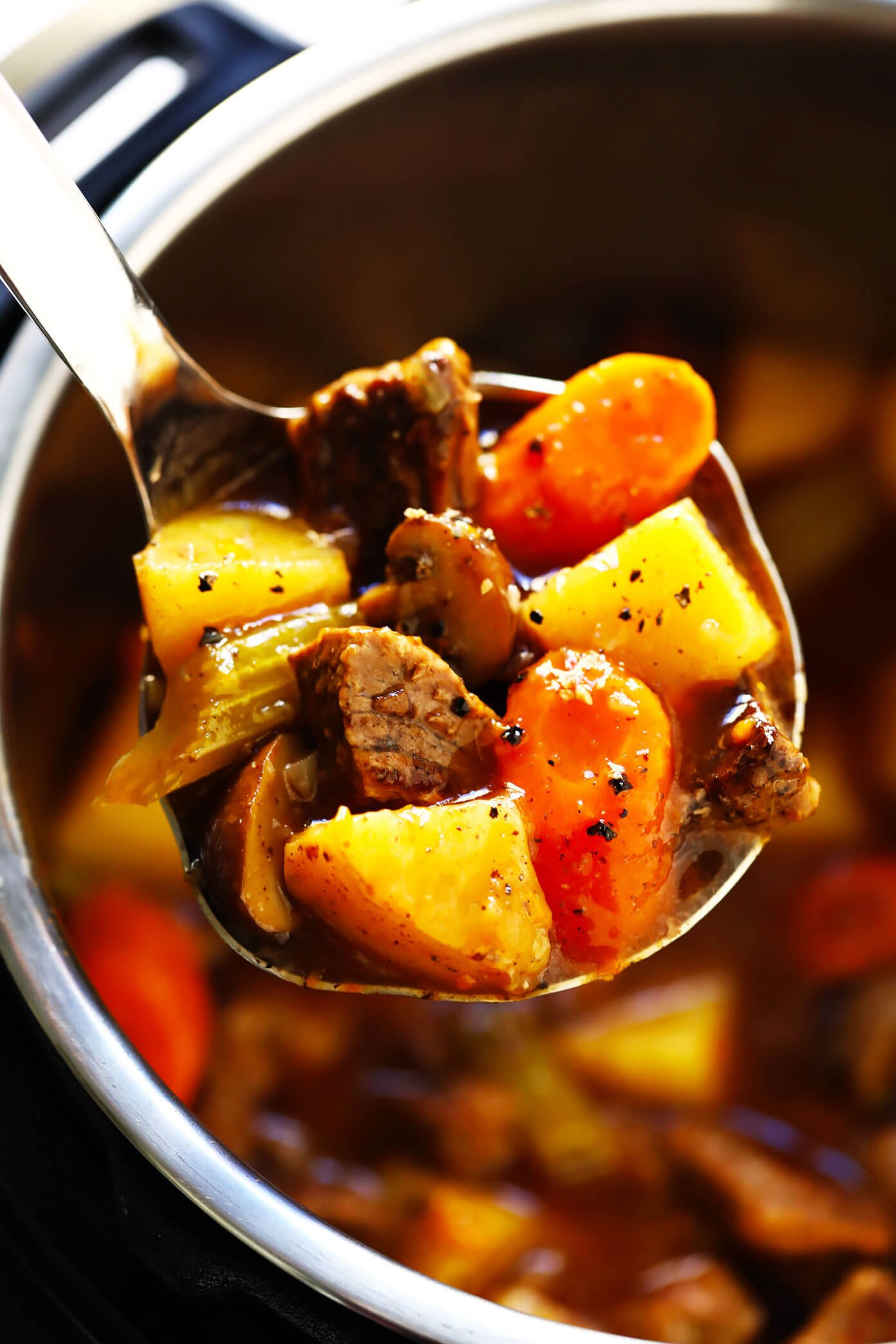Beef Stew Recipe (Crock Pot or Instant Pot)