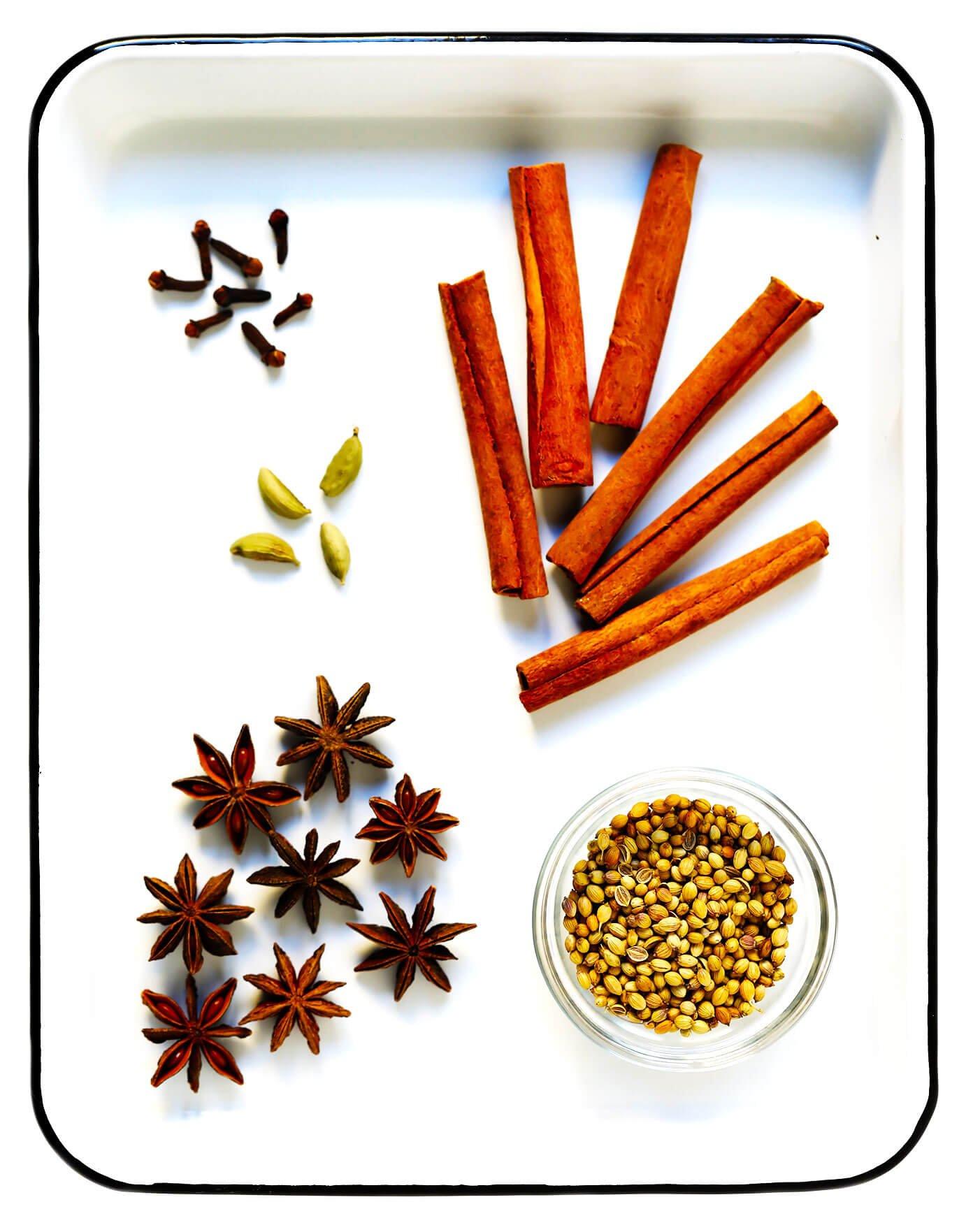 Vietnamese Pho Spices -- Cinnamon, Cloves, Cardamom, Coriander and Star Anise