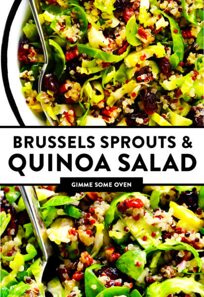 Brussels Sprouts, Cranberry, Pecan and Quinoa Salad