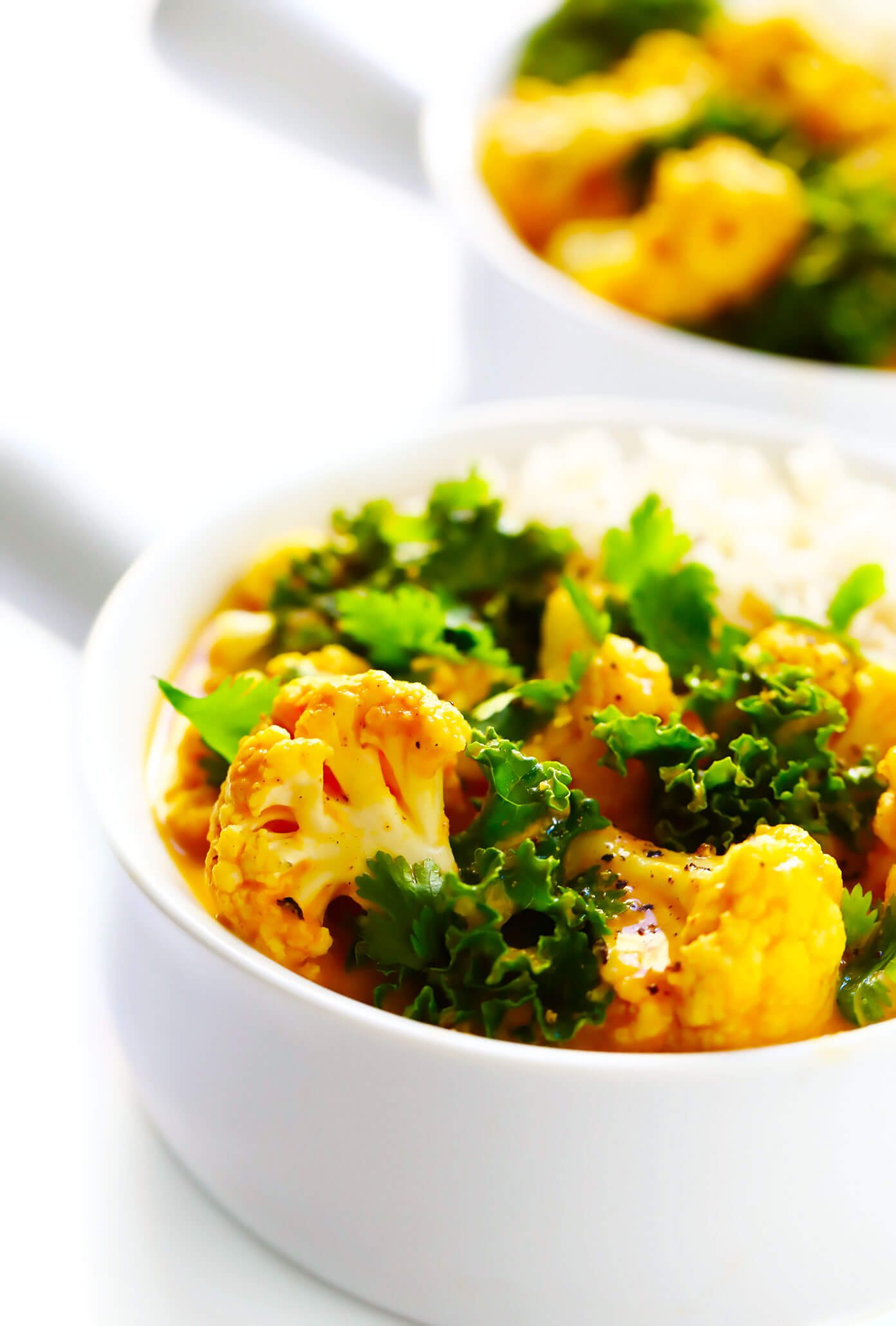 Vegetarian Curry Recipe with Cauliflower and Kale