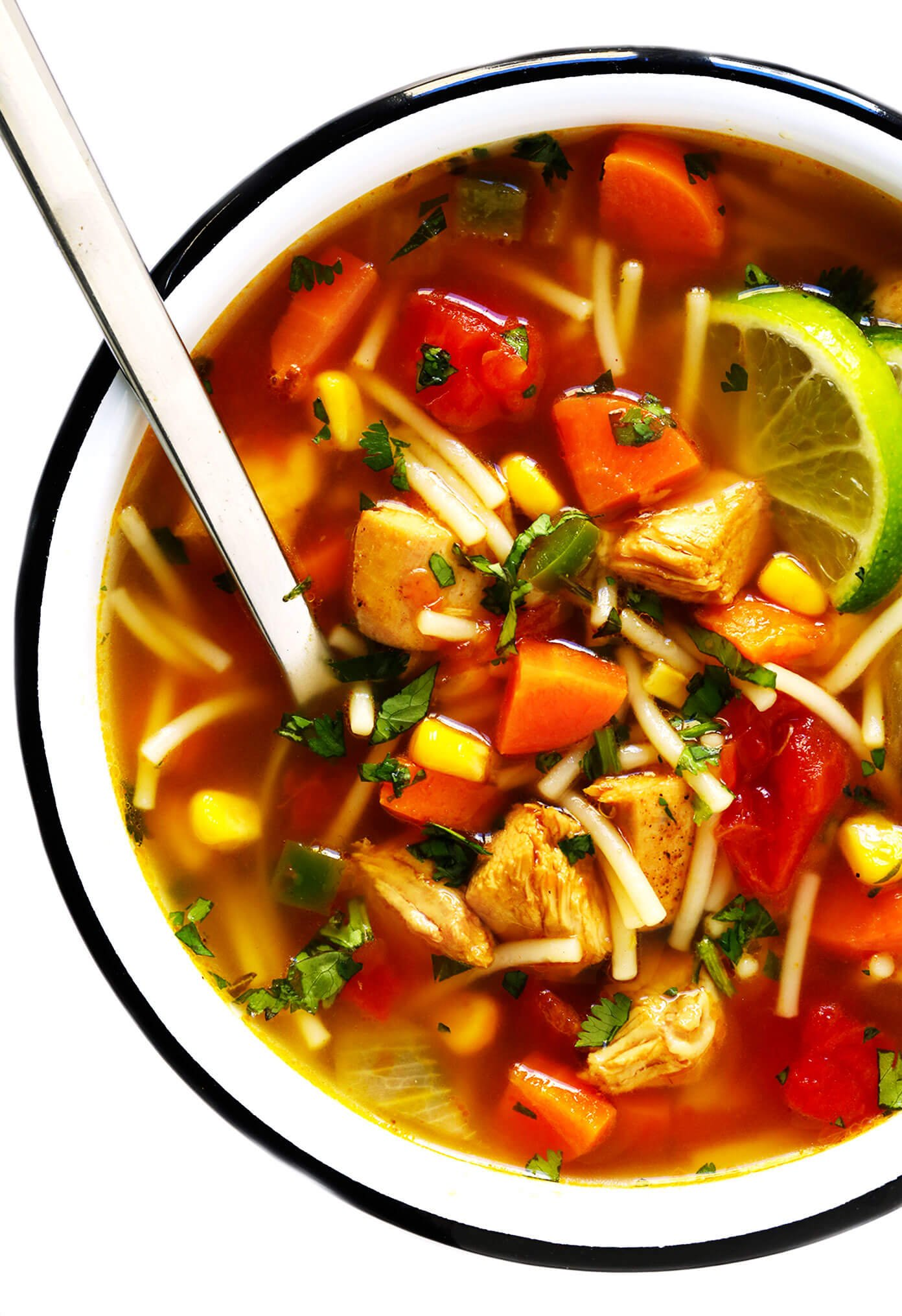 Tex-Mex Chicken Noodle Soup Recipe