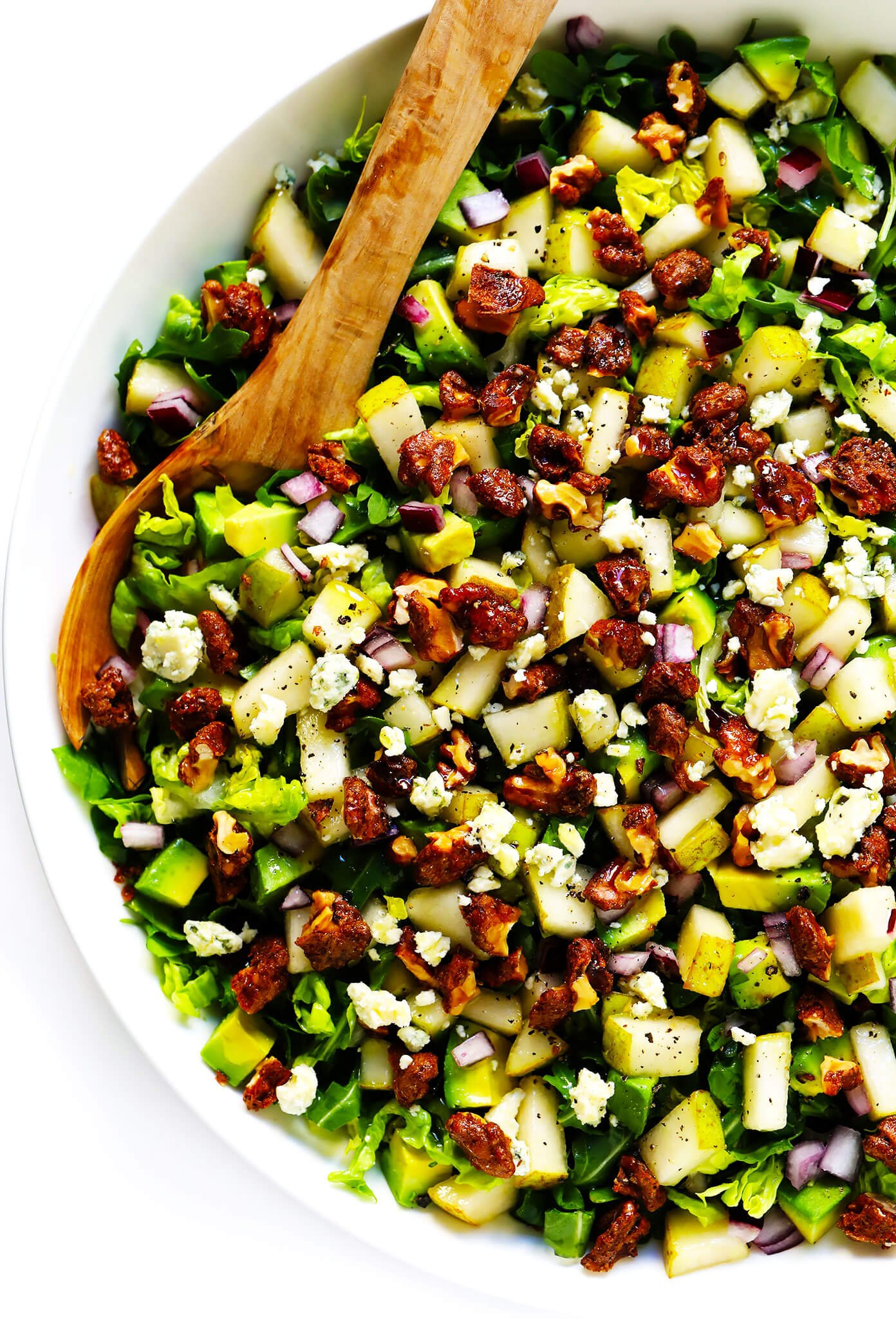 Pear Salad with Gorgonzola and Candied Walnuts