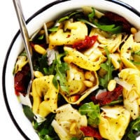 Tortellini Salad with Sun-Dried Tomatoes and Artichokes