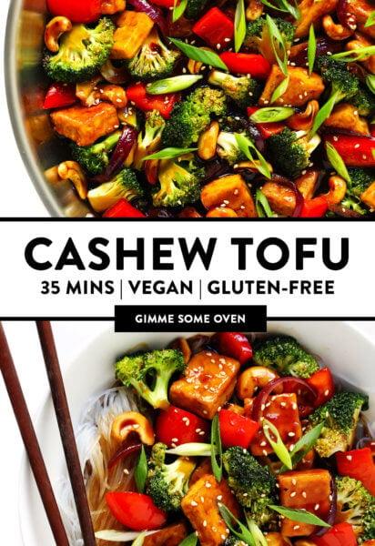 Cashew Tofu Vegetarian Stir-Fry