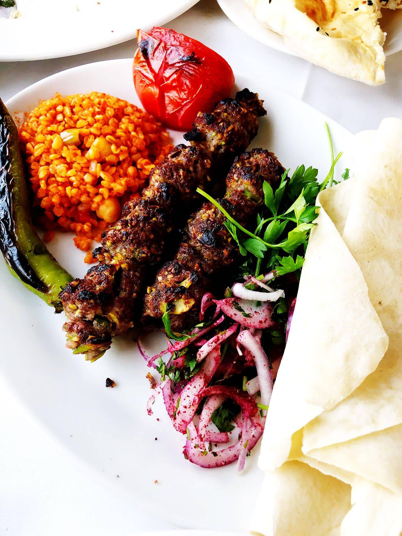 Pistachio kebab from Hamdi Restaurant Eminonu