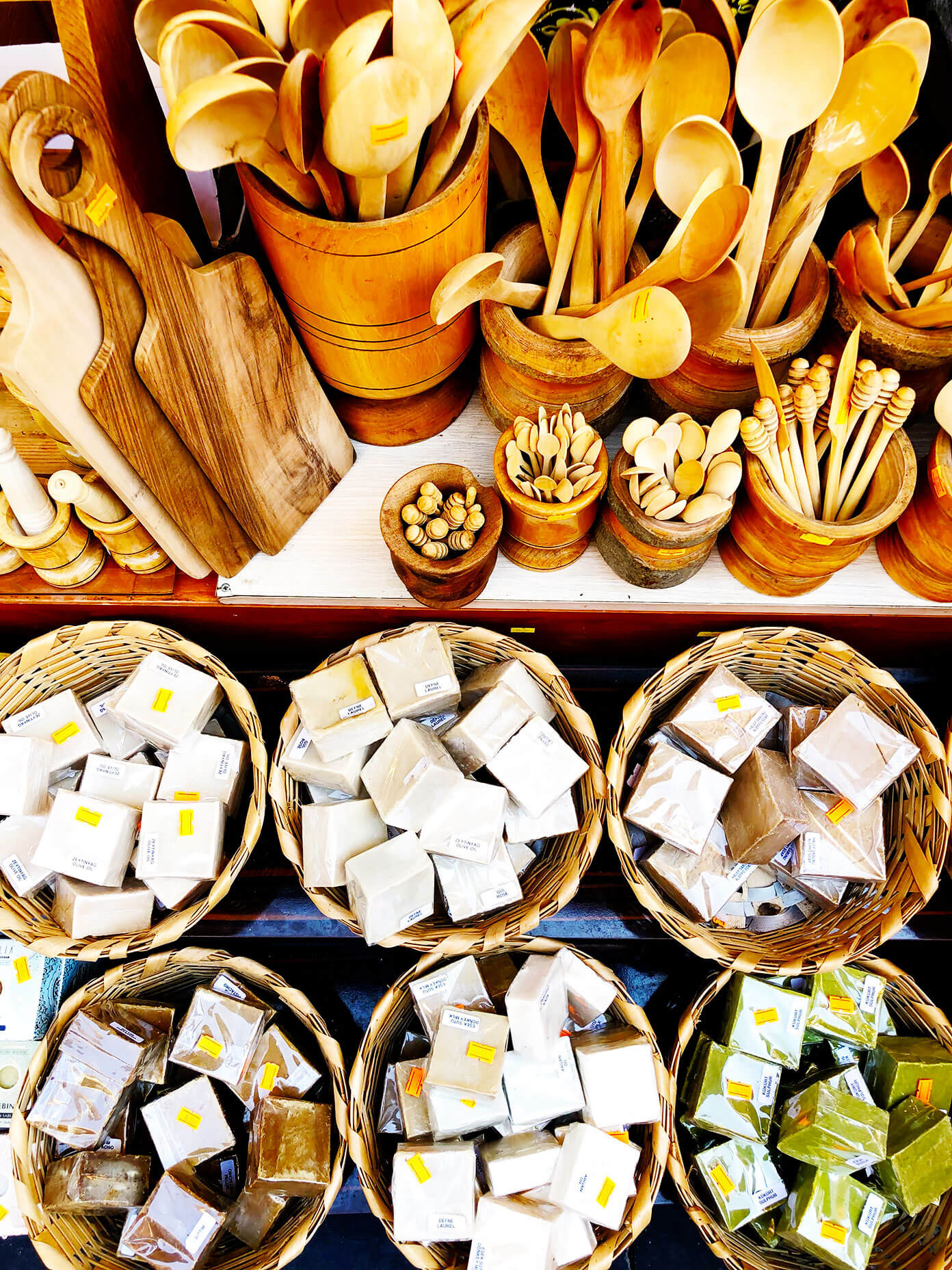 Spice Market Istanbul Soaps and Wooden Spoons