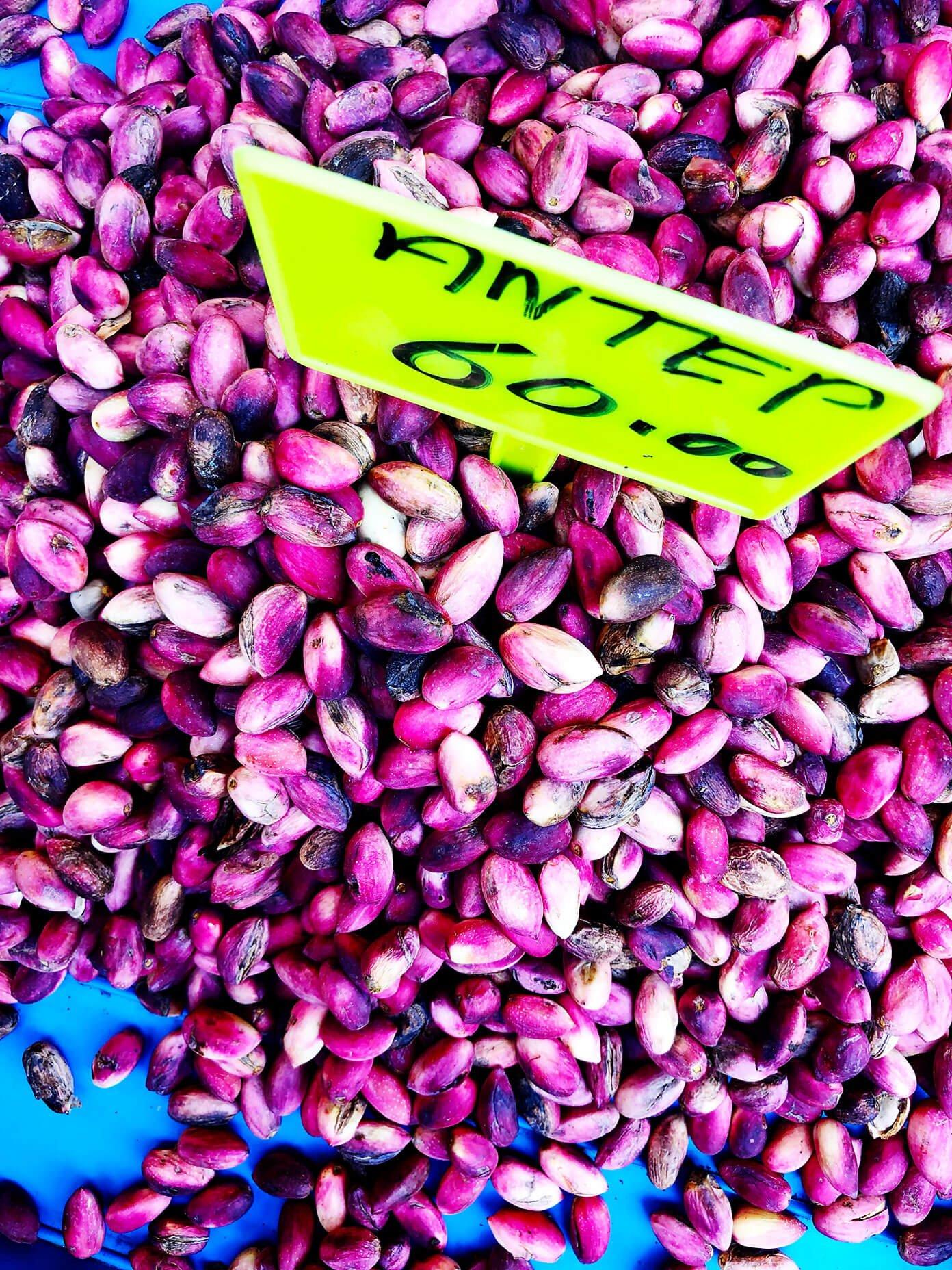 Purple pistachios