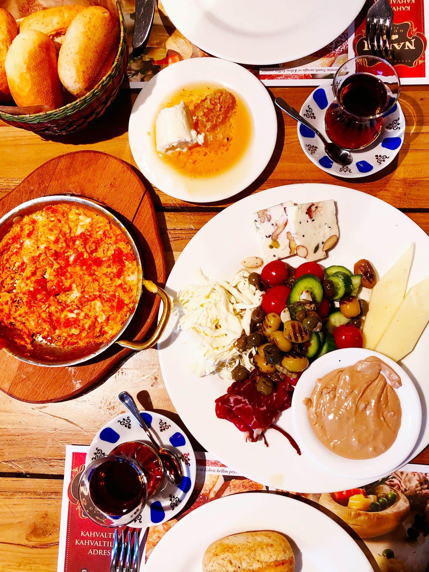 Turkish breakfast Istanbul at Namli Gurme
