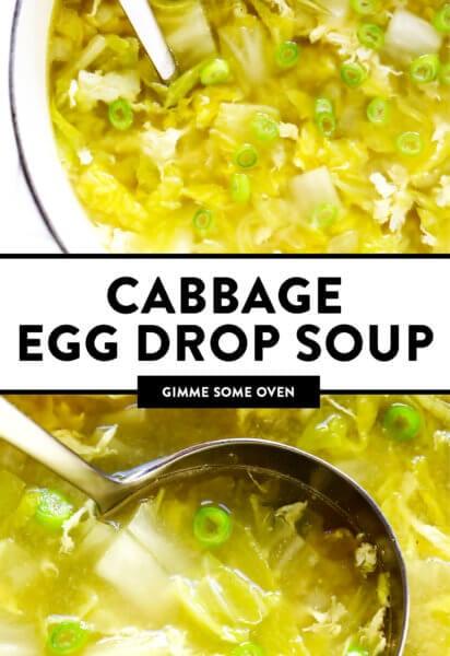 Cabbage Egg Drop Soup