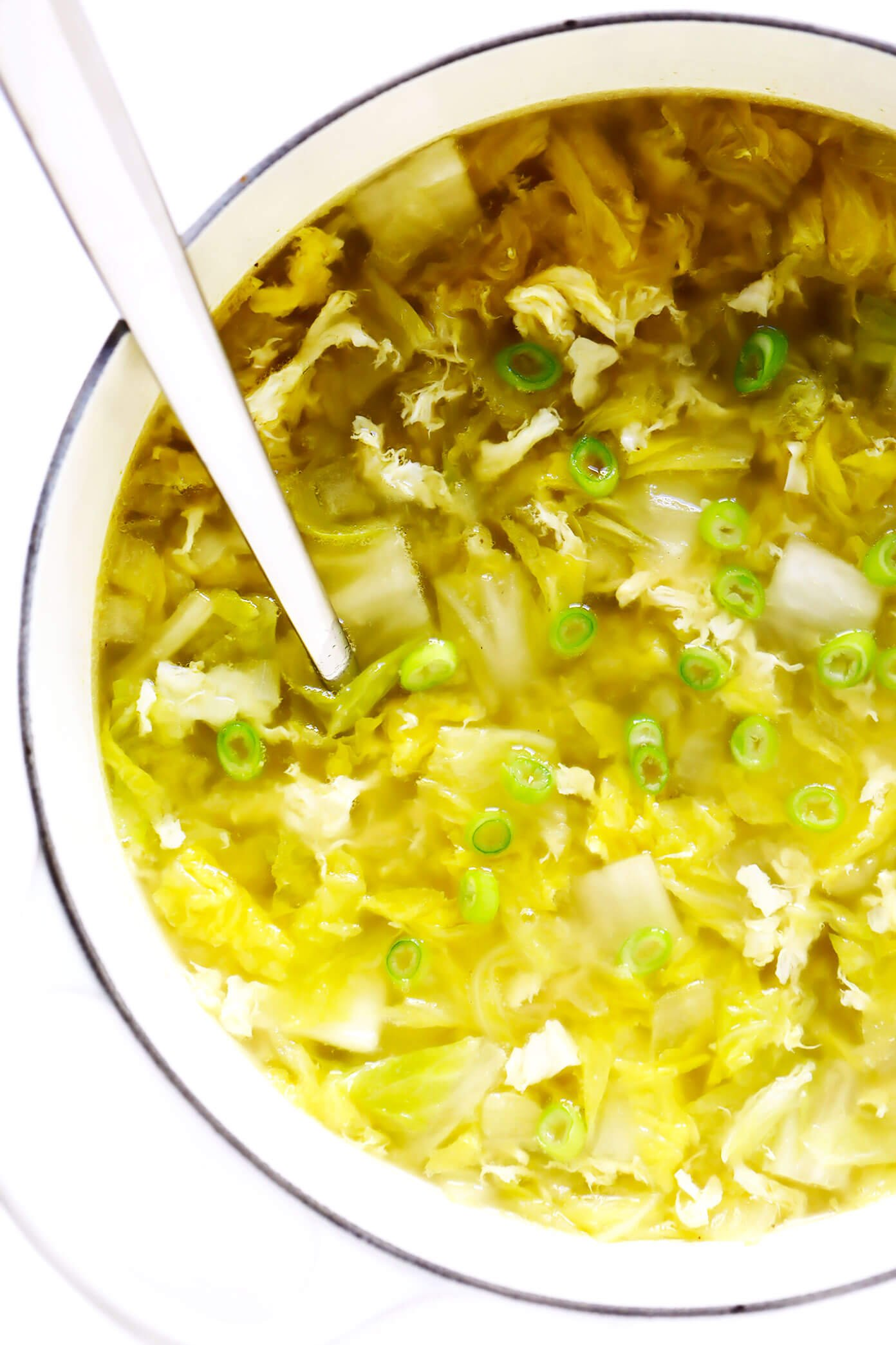 Cabbage Egg Drop Soup
