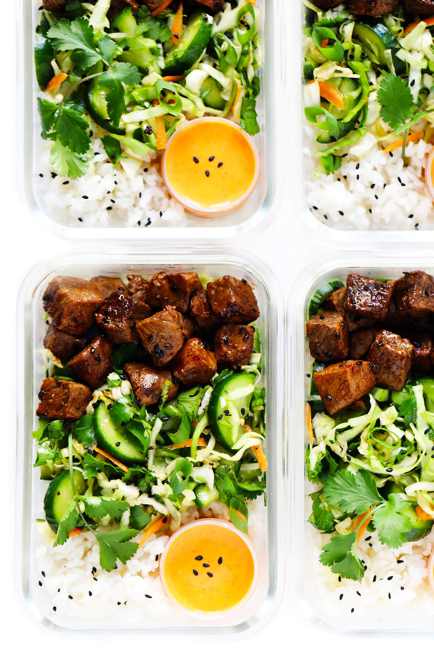 Easy Meal Prep Recipe | Korean Beef Bowls with Sesame Slaw