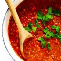 Tomato Lentil Curry Recipe
