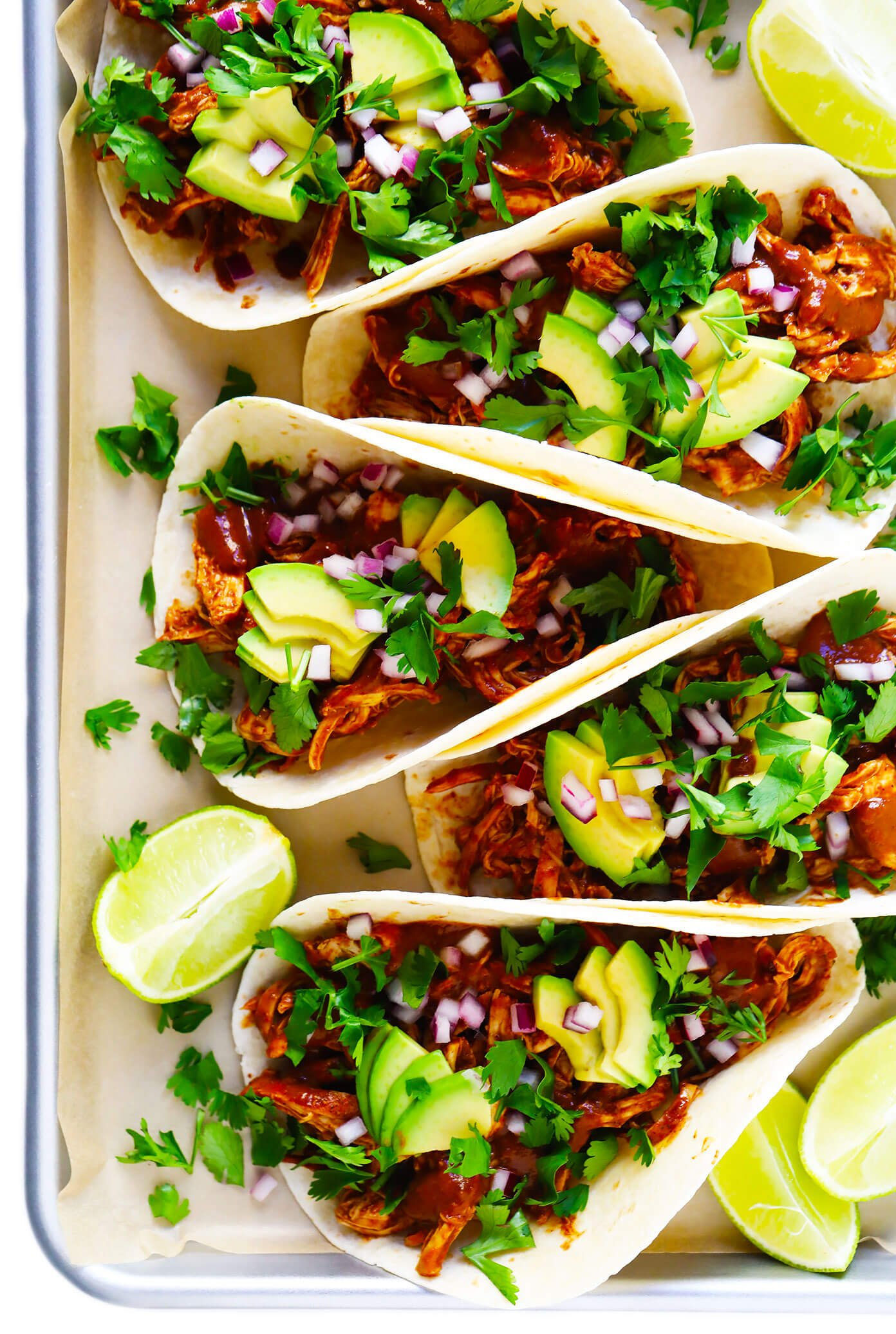 Easy Chicken Tacos with Mole Sauce