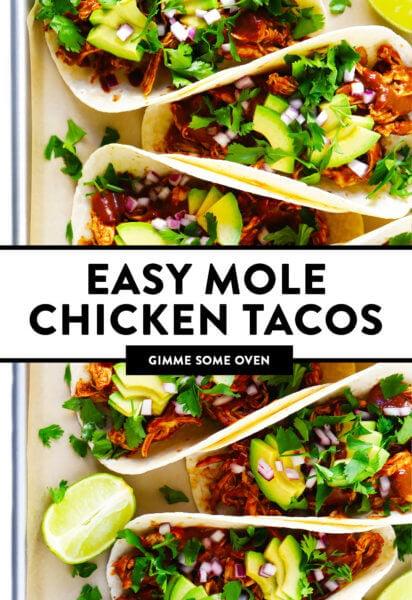 Easy Mole Chicken Tacos Recipe