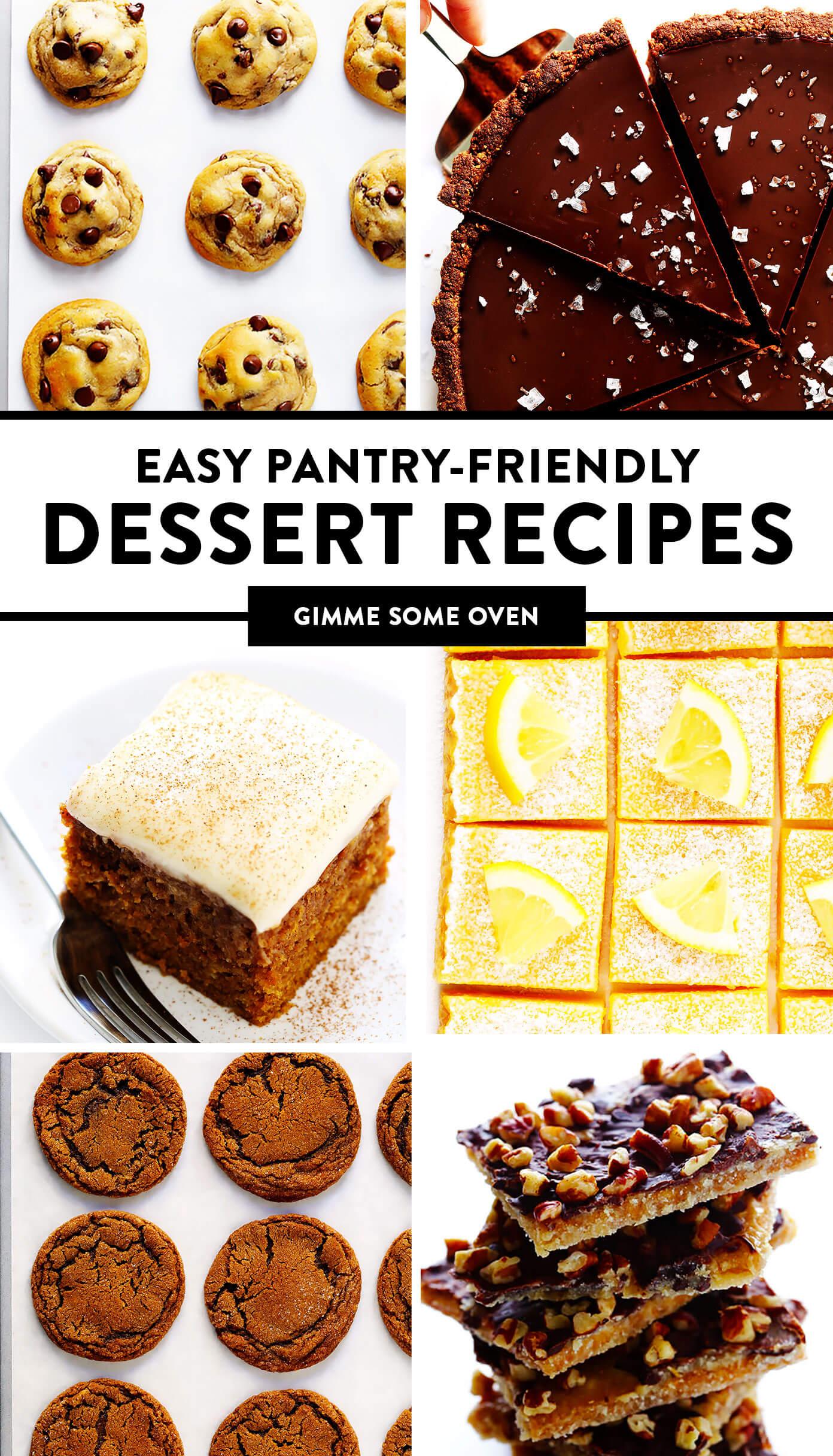 Easy Pantry-Friendly Dessert Recipes