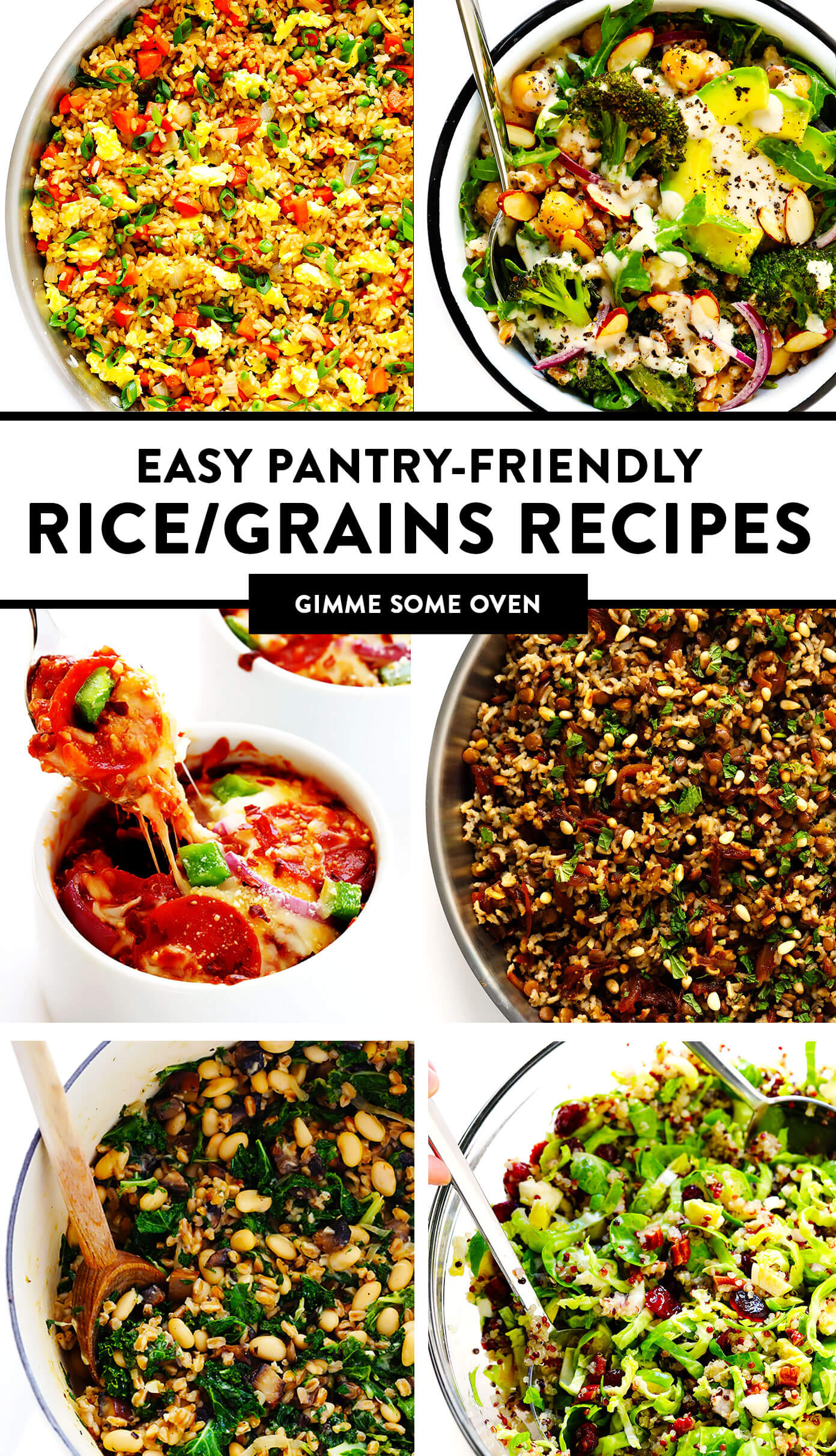 Easy Pantry-Friendly Rice, Grains and Quinoa Recipes