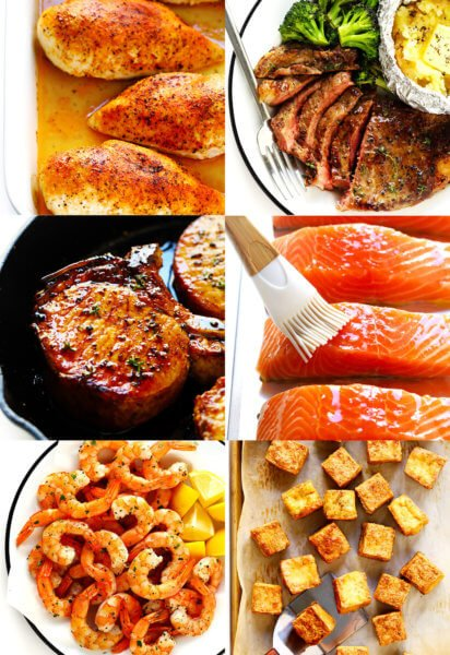 How To Cook Chicken, Steak, Pork, Fish, Shrimp and Tofu In The Oven