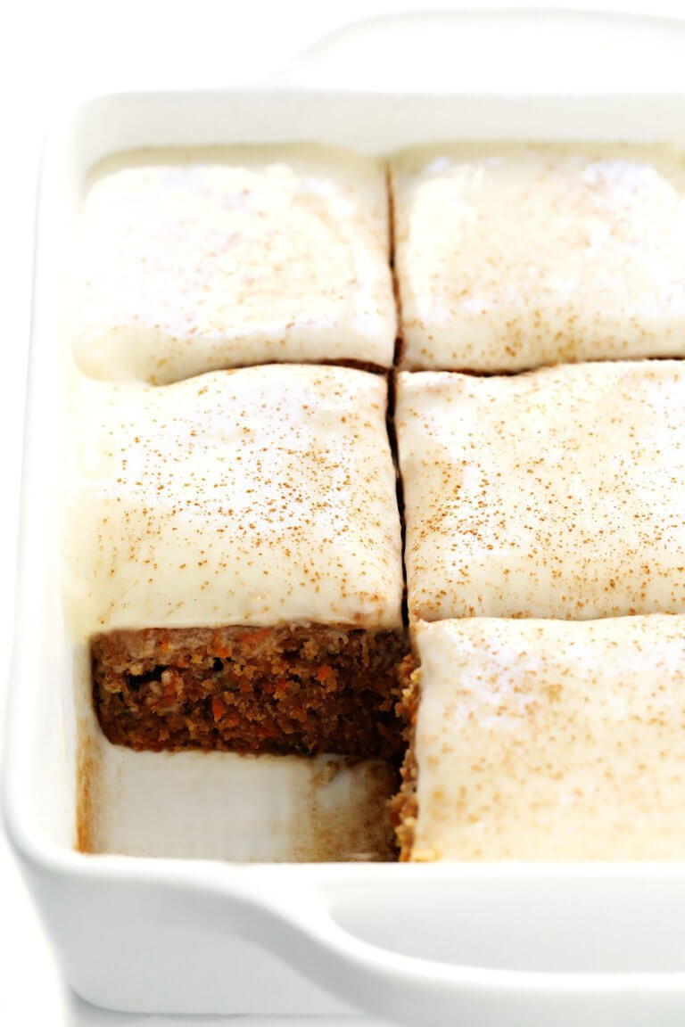 Carrot Cake Bars | Gimme Some Oven