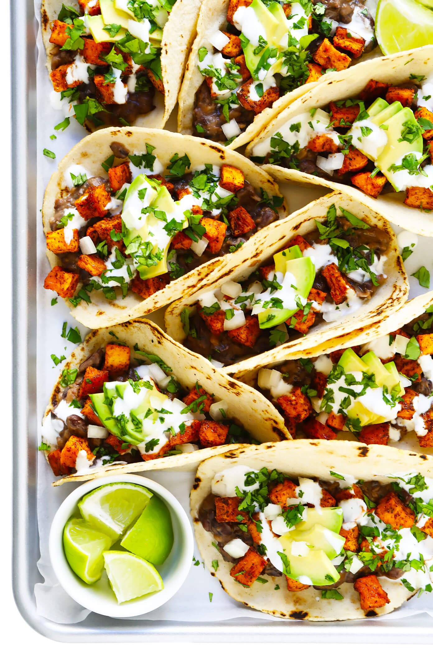 Sweet Potato Black Bean Tacos with Homemade Corn Tortillas
