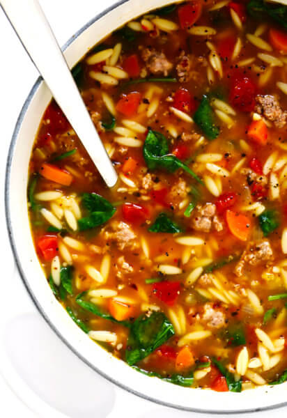 Italian Sausage and Orzo Soup Recipe