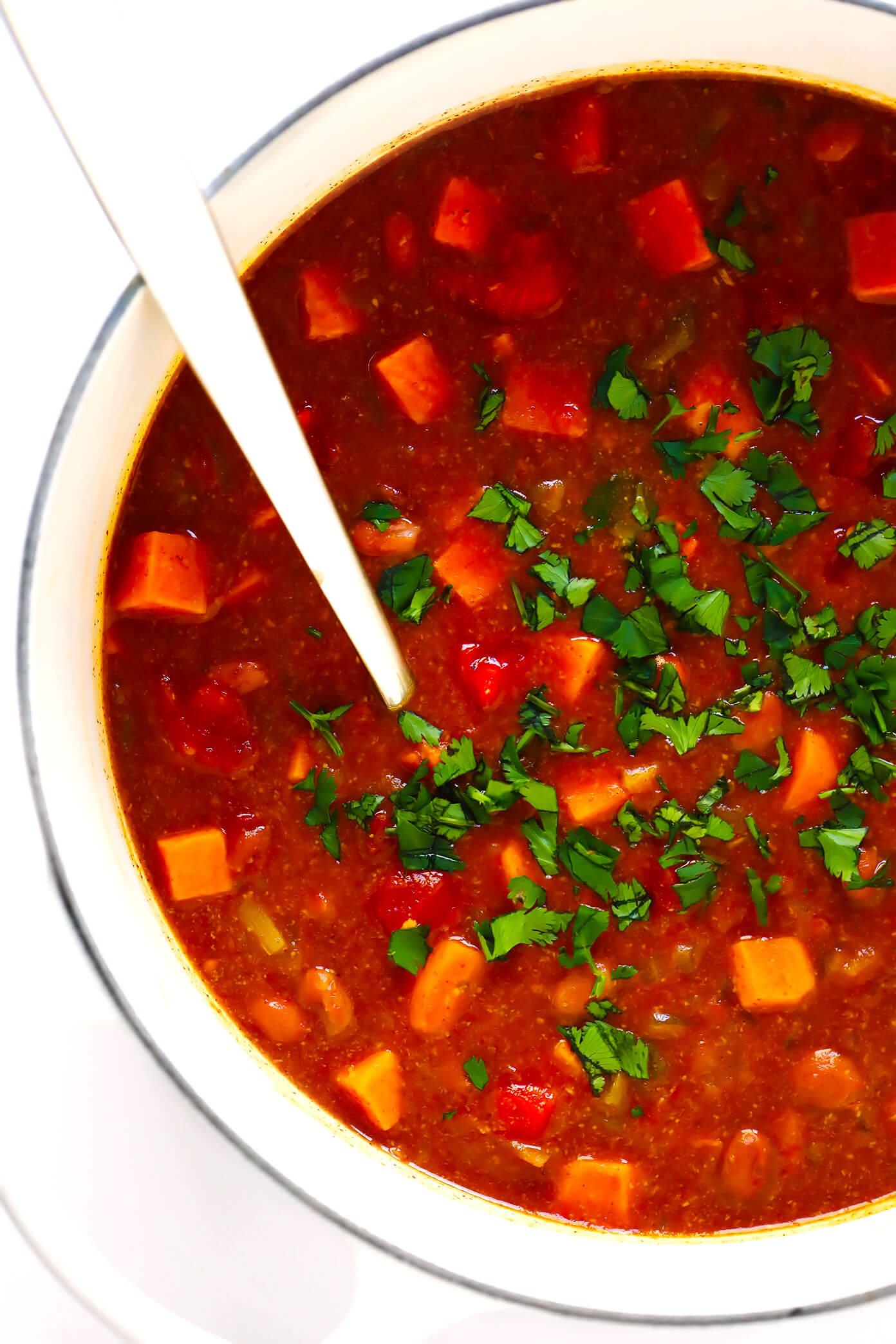Vegetarian Sweet Potato Chili Recipe