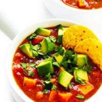 Vegetarian Sweet Potato Enchilada Soup Recipe