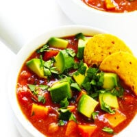 Vegetarian Sweet Potato Enchilada Soup
