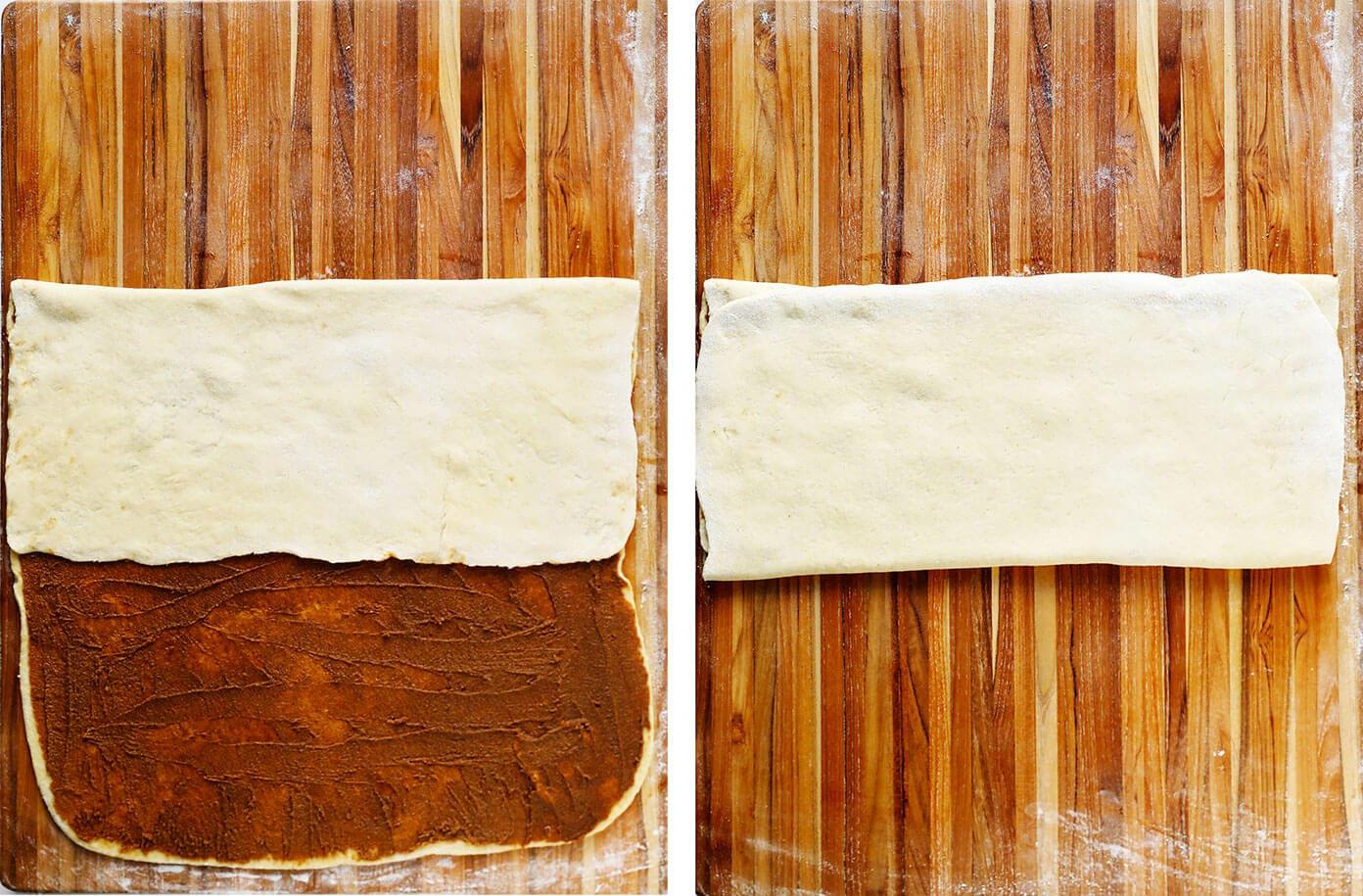 How To Fold Swedish Cinnamon Bun Dough