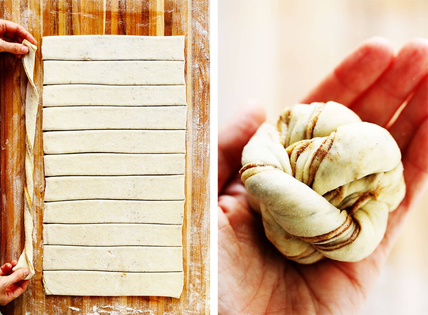 How To Twist and Roll Swedish Cinnamon Buns