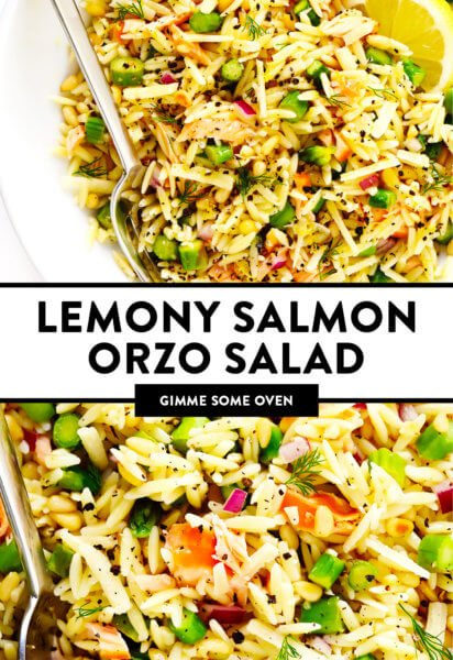 Lemony Salmon Orzo Salad