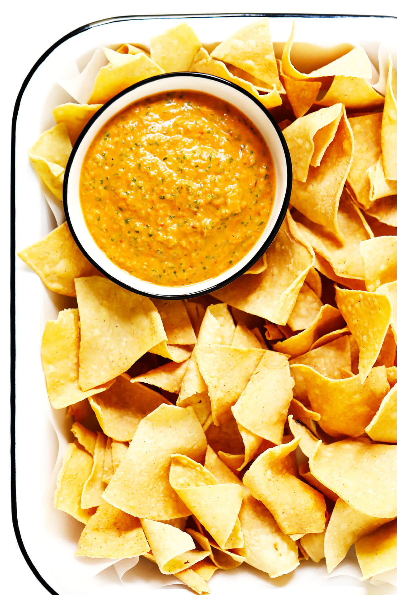 Peanut Chipotle Salsa Recipe with Tortilla Chips