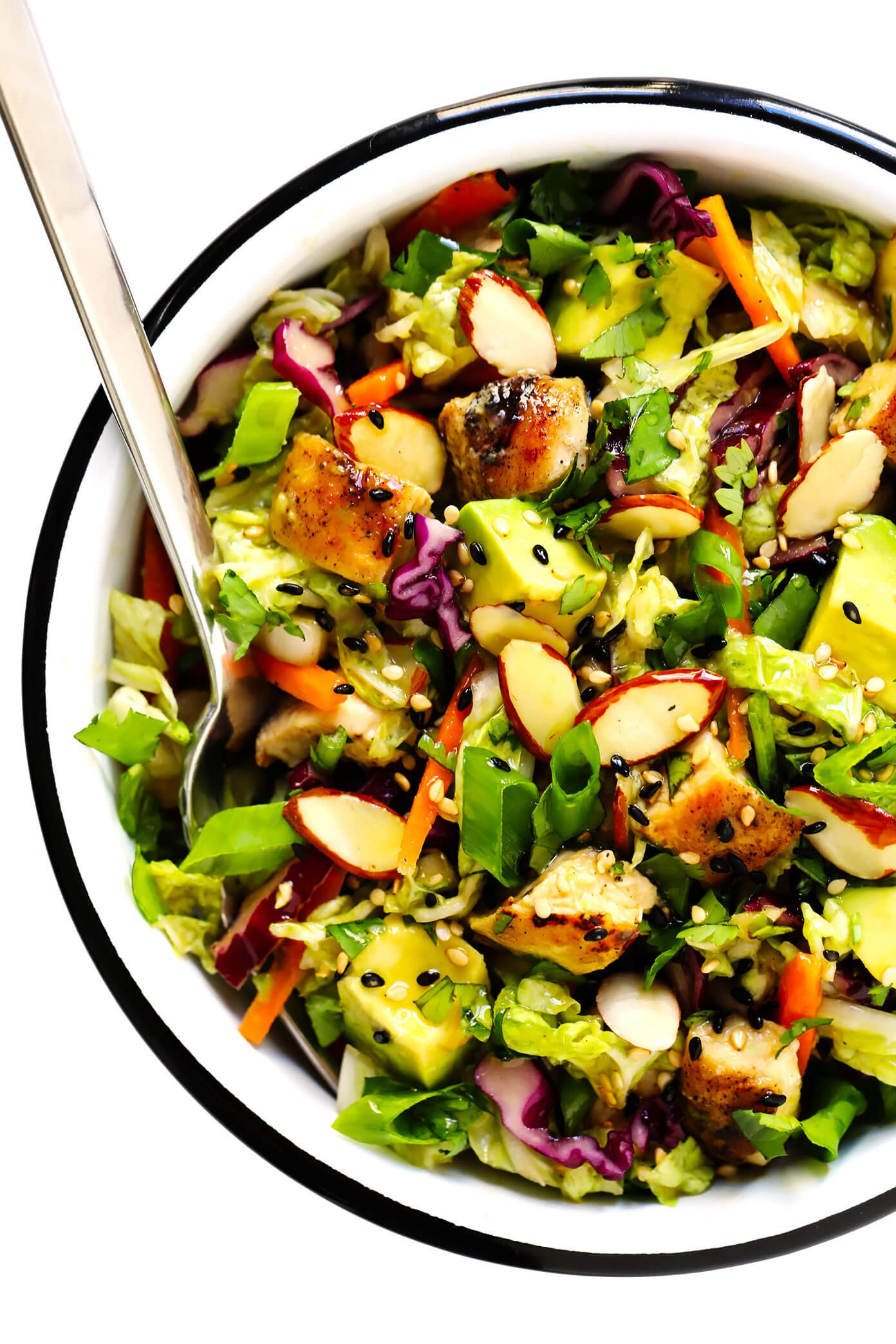 Green Salad with Chicken, Avocado and Sesame Vinaigrette