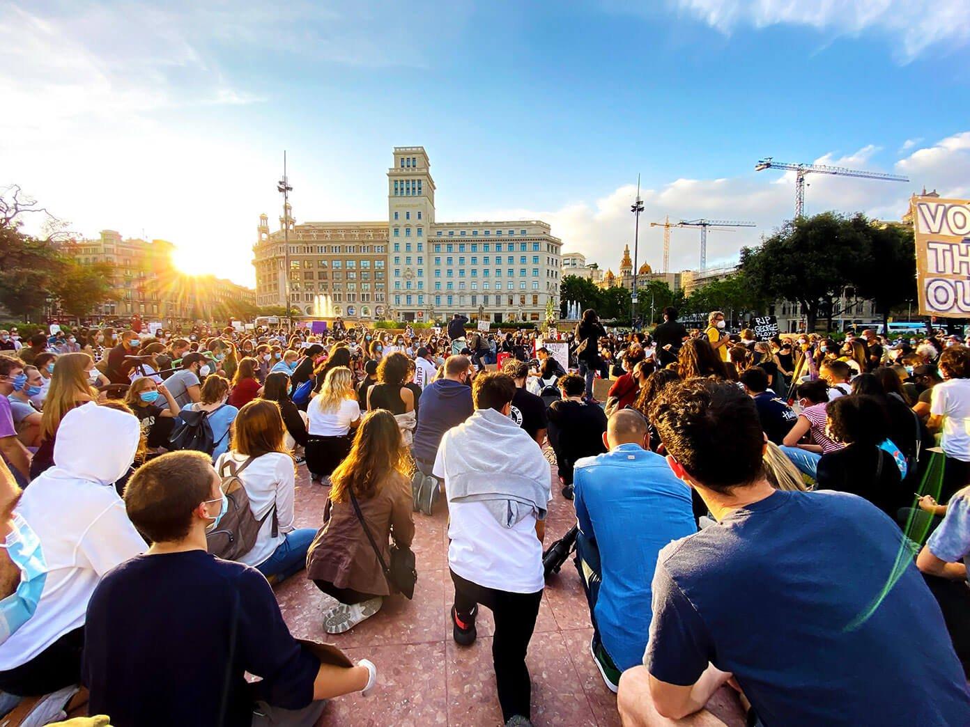 Vigília da questão da vida negra em Barcelona