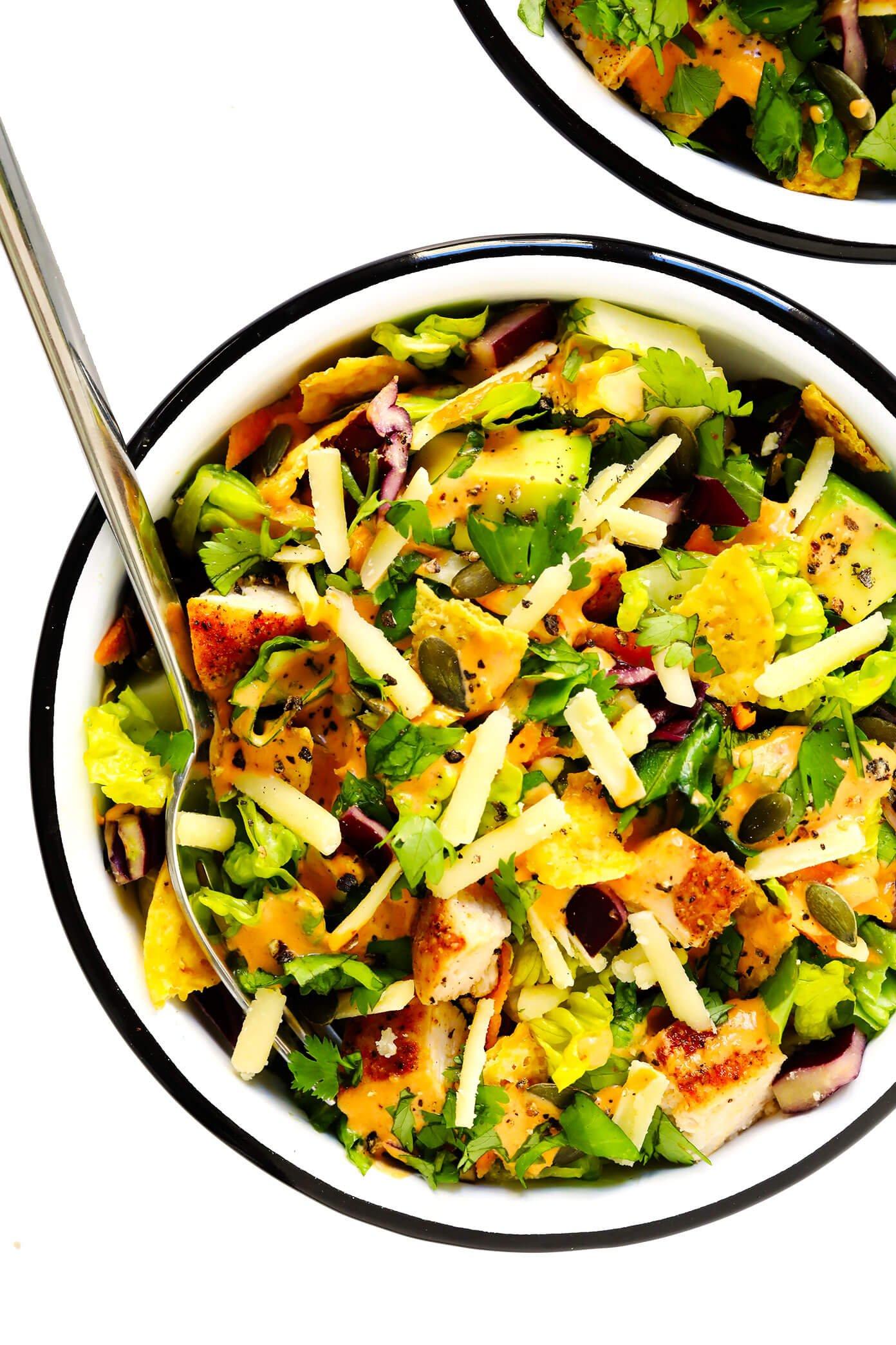 Chipotle Salad in Serving Bowls